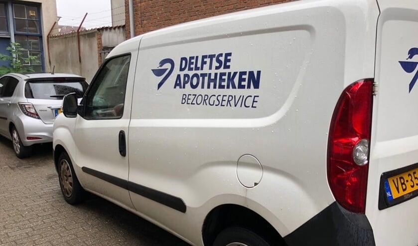 De bezorgservice van de Delftse apotheken is nu meer zichtbaar