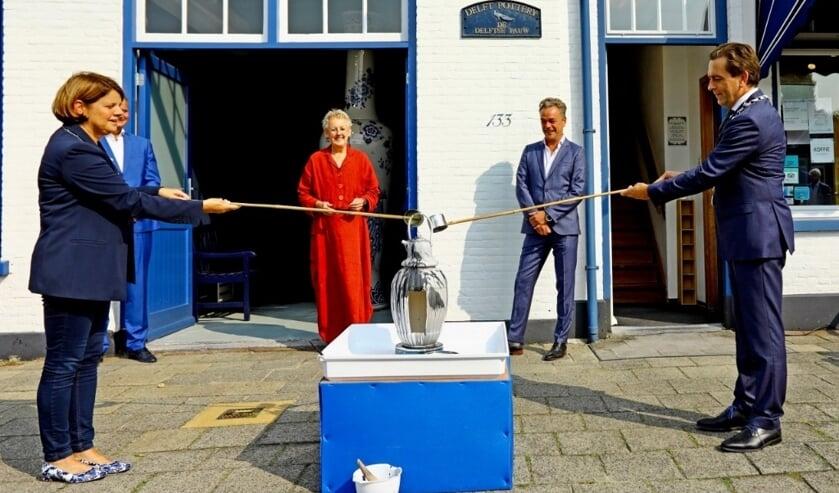 Burgemeesters Marja van Bijsterveldt en Michel Bezuijen hadden een belangrijke taak (Foto: Koos Bommelé)