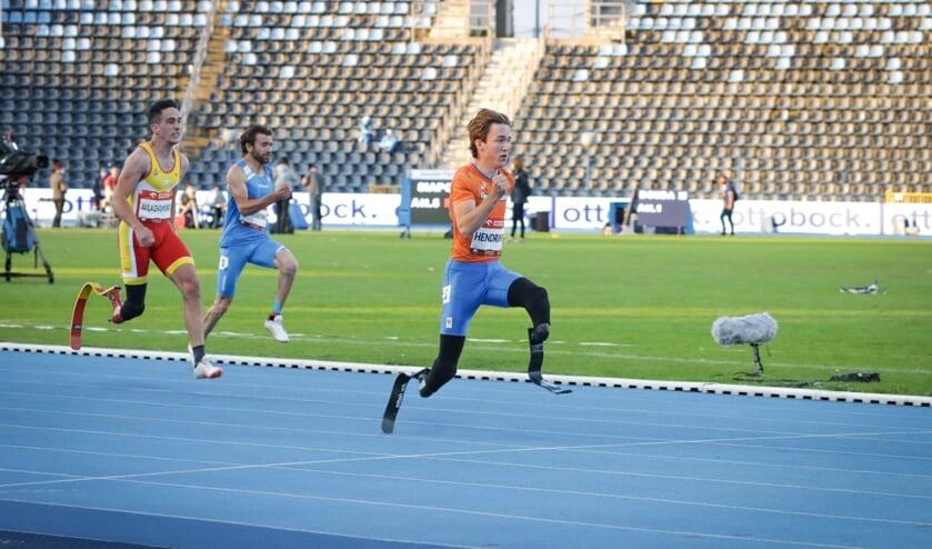 <p>Olivier Hendriks in actie. (Foto: Rens van de Waterlaat)</p>
