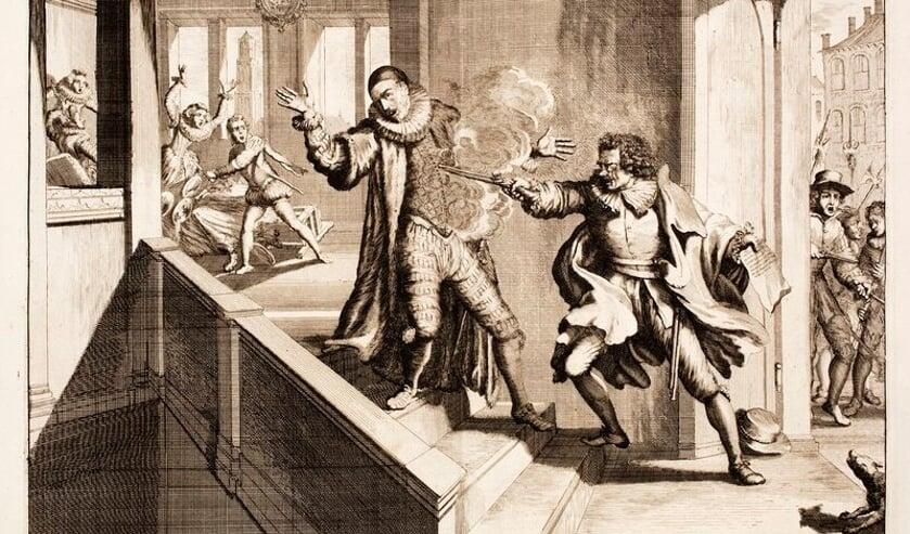 De Moordt des Prinsen van Oranje, tot Delft, in den Jaare 1584. Uit Nederlandtsche jaerboeken en historien van Hugo de Groot, 1681.