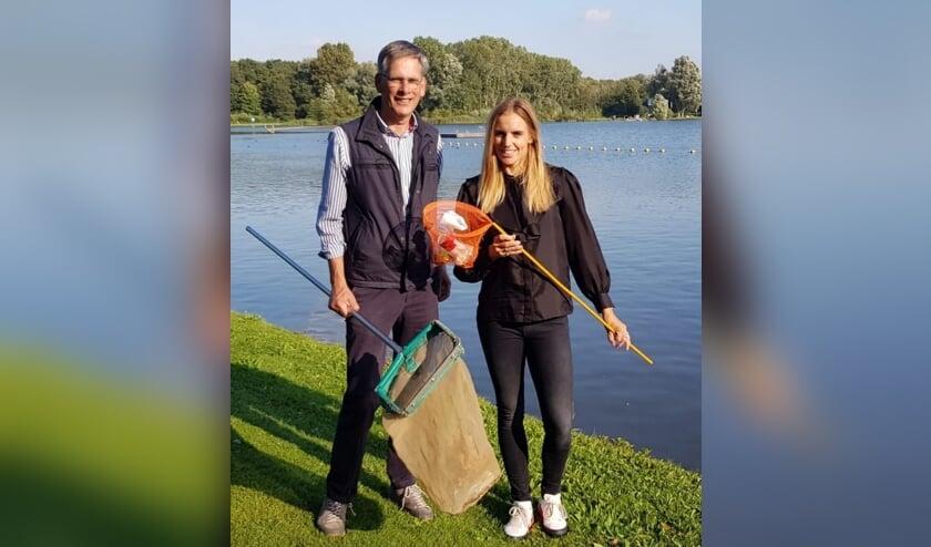 <p>Dijkgraaf Piet-Hein van Daverveldt en olympisch zeilkampioen Marit Bouwmeester </p>