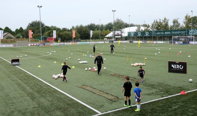 <p>De trainingen van NIRO vinden plaats op het veld van SV Den Hoorn (Foto: Koos Bommel&eacute;)</p>