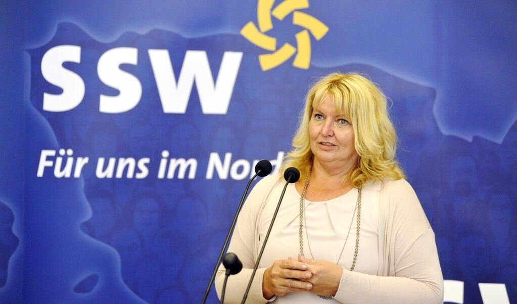 To personer har tilkendegivet, at de er interesserede i at blive SSW-spidskandidat, hvis landsmødet lørdag vælger at stille op til forbundsdagsvalget næste år, fortæller Jette Waldinger-Thiering, SSW-landdagsmedlem. Arkivfoto: Martina Metzger  (( Martina Metzger))