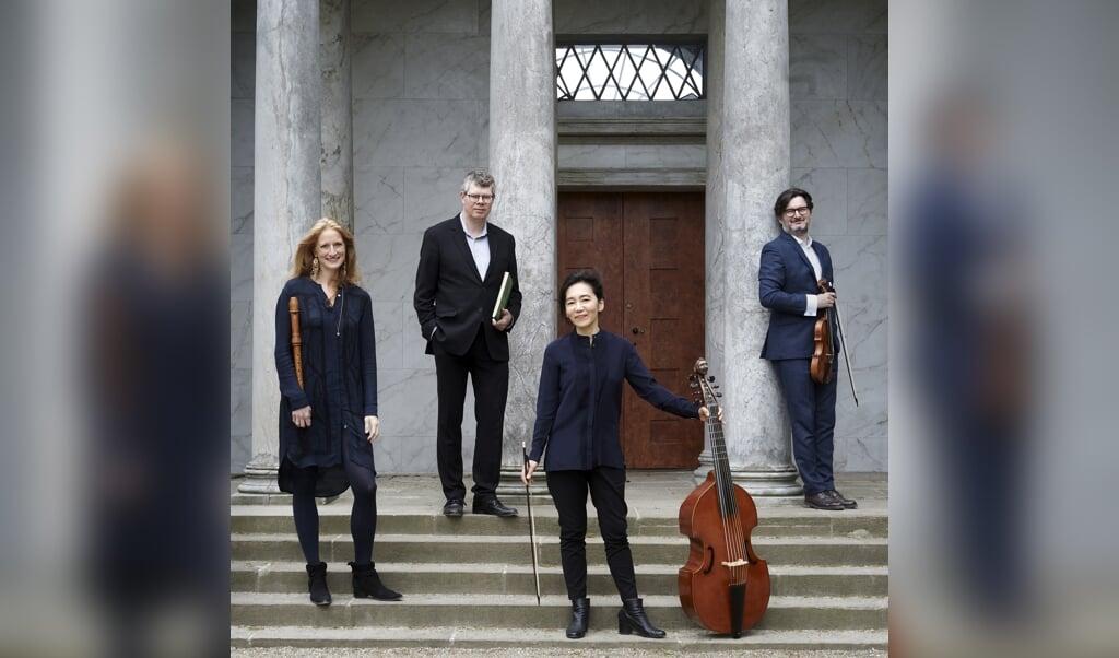 Elephant House Quartet består af (fra venstre) Bolette Roed, Allan Rasmussen, Reicho Ichise og Aureliusz Golinski.   ( Kirstine Ploug)