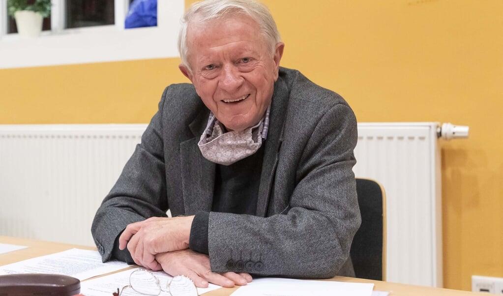 Dieter Lenz var ved sin døde siddende formand for DGF - her fotograferet ved generalforsamlingen i Flensborghus sidste år. Arkivfoto: Lars Salomonsen  (Lars Salomonsen.)