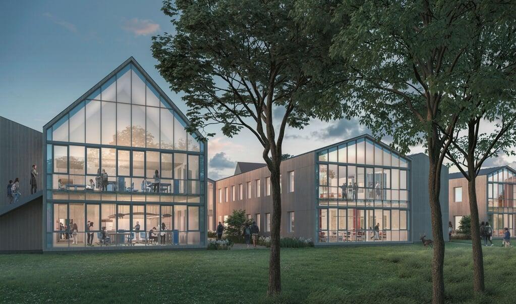 So sollen sie aussehen, die neuen Lernhäuser auf dem Bildungscampus Louisenlund. Die Stiftung investiert rund 28 Millionen Euro in ein neues Lern- und Forschungszentrum sowie zusätzliche Wohn- und Gemeinschaftsräume.   (Louisenlund)
