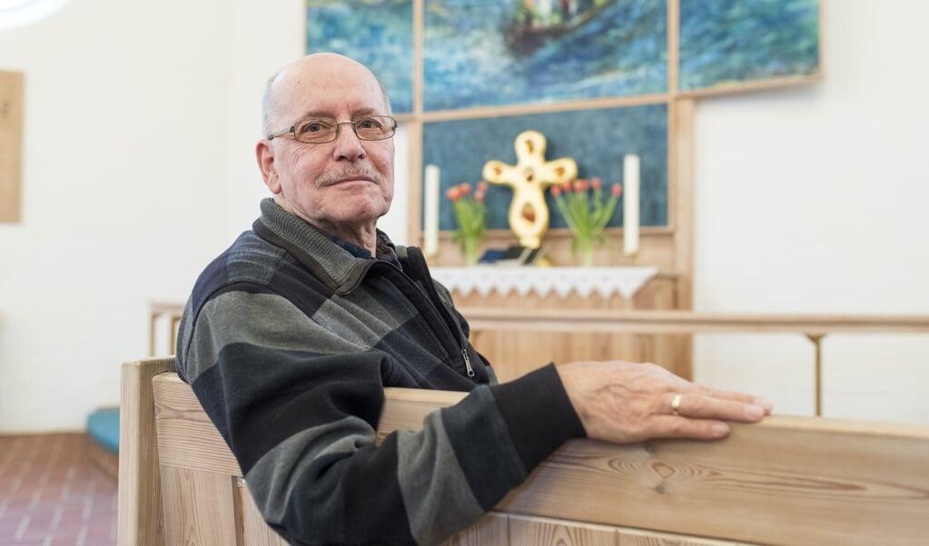 Manfred Nickelsen har passet og plejet den danske kirke i Husum i - foreløbig - et halvt århundrede.  (Arkivfoto: Martin Ziemer)