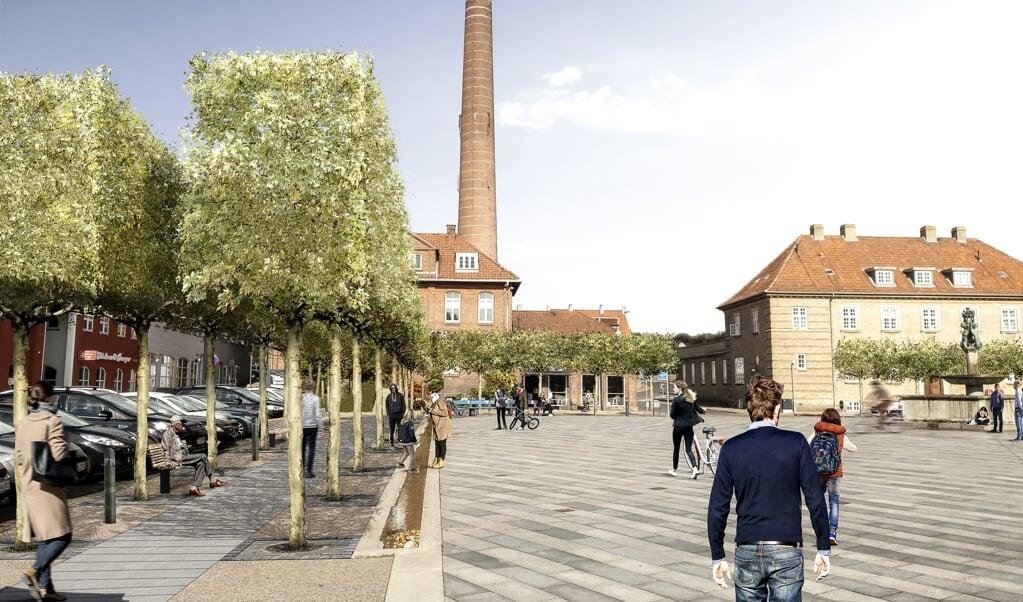 Sådan skal Gravene i Haderslev se ud, når arbejderne er afsluttet.   ( Haderslev Kommune)