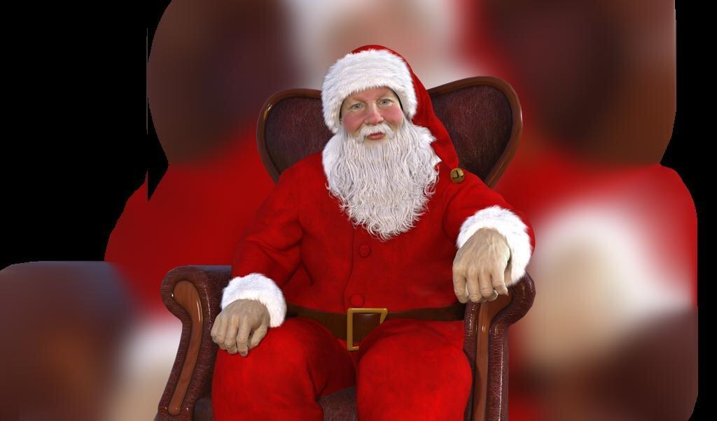 Julemanden har røde kinder og er glad - det er nok, fordi han har fået ...vingummi, varm mælk eller måske en kiks?  ( Pixabay)