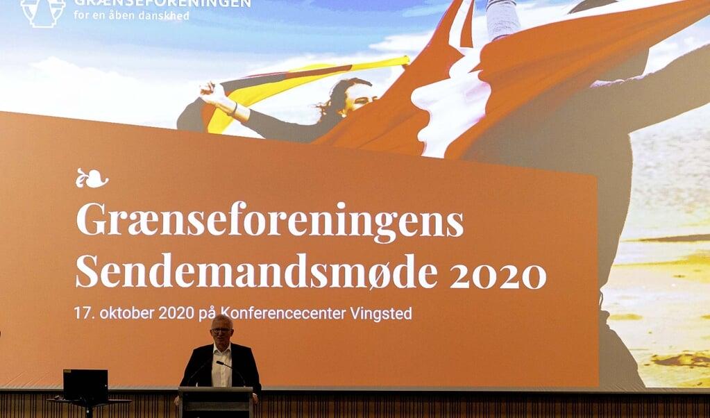 Grænseforeningens Sendemandsmøde i Vingsted i 2020. Jens Andresen  Lars Salomonsen  (Lars Salomonsen.)