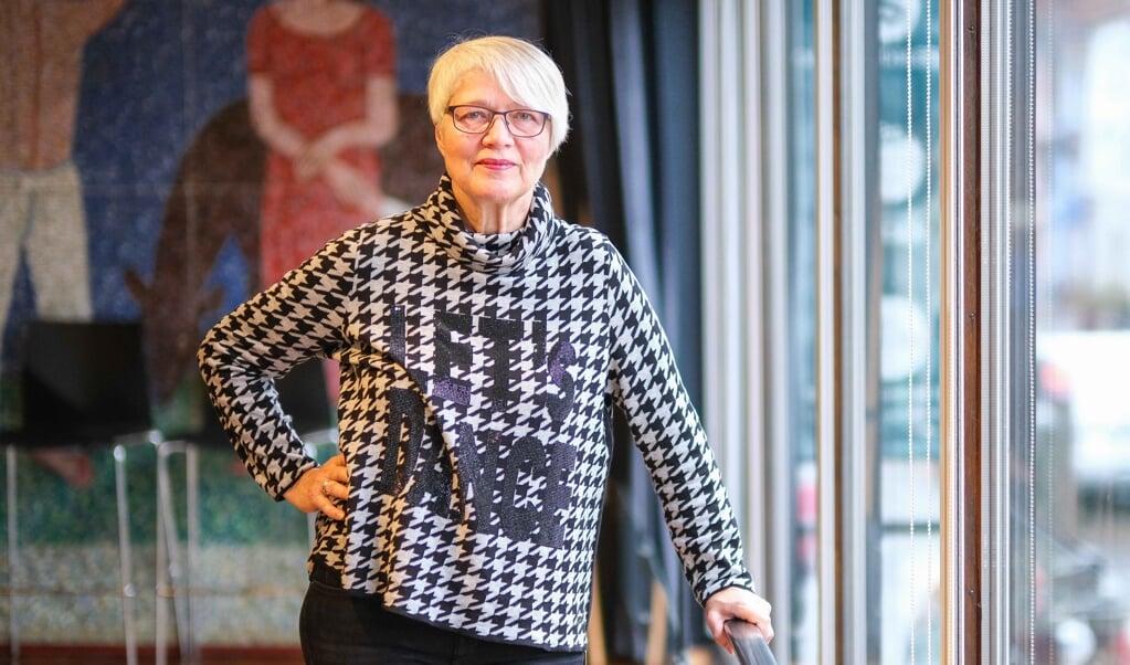 Den 1. december går Lilli Bruhn på pension efter godt 40 år på Dansk Centralbibliotek. Bibliotekets blå sal kom til at spille en afgørende rolle for hende.  ( Sven Geißler)