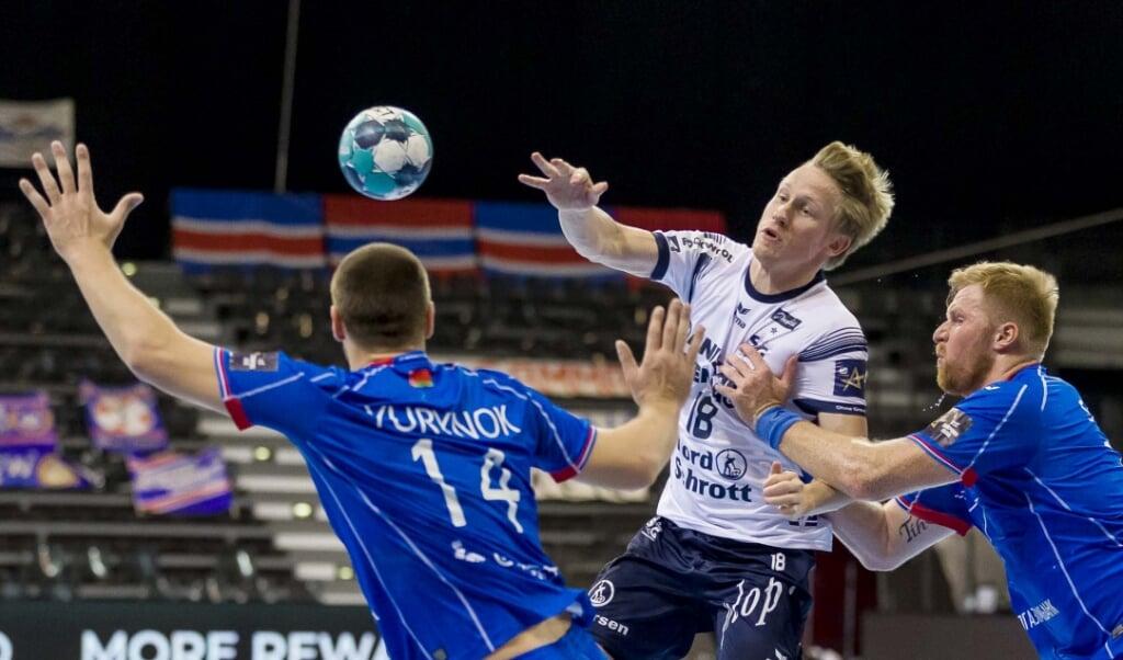 Magnus Jøndal nutzte seine Möglichkeiten im ersten Durchgang auf Linksaußen.  ( Lars Salomonsen.)