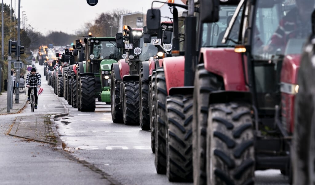 Den 14. november indtog et traktoroptog Aalborg. Lørdag ventes der demonstrationer i København og Aarhus.   ( Henning Bagger/Ritzau Scanpix)
