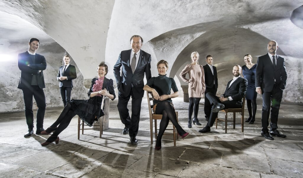 Vokalensemblet Musica Ficta blev grundlagt af Bo Holten (i midten).  Per Morten Abrahamsen   (Per Morten Abrahamsen)