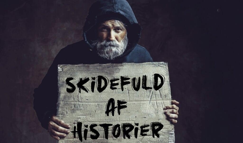 Skuespillerne i »Skidefuld af historier« er hjemløse, der normalt sælger bladet Hus Forbi.  ( PR)