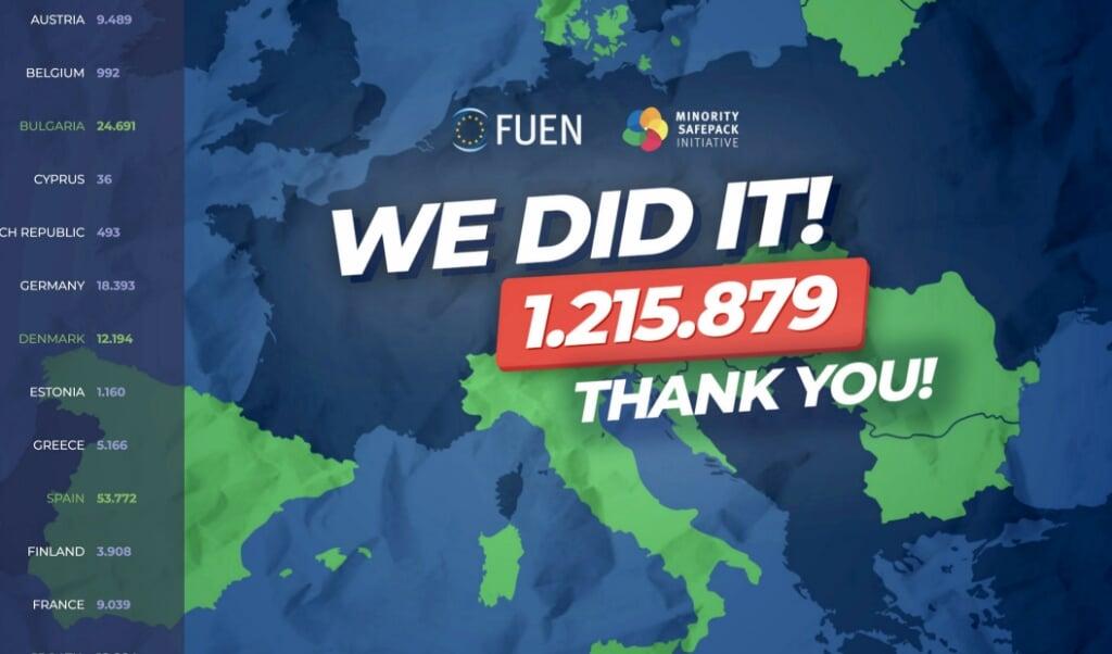 Borgerinitiativet har fået støtte fra over en million borgere inden for EU. Screenshot  (FlA)