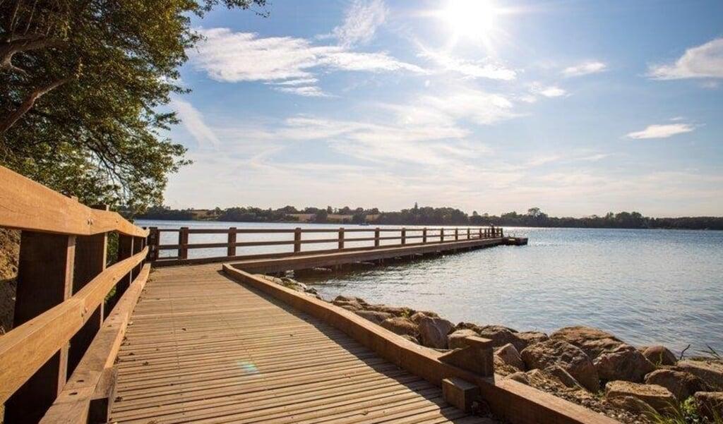 Fiskebroen ved Det Marine center på Kær Vestermark er et eksempel på handicapvenlighed. Det er nemt for en kørestolsbruger at komme ud på broen og sidde og fiske – eller måske bare nyde udsigten.  Kim Toft Jørgensen  (Kim Toft Jørgensen)