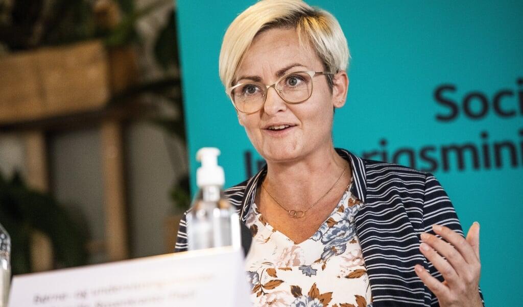 Børne- og undervisningsminister Pernille Rosenkrantz-Theil (S) er tilfreds med ny aftale, der skal sikre, at flere unge på erhvervsskolerne får en praktikplads. (Arkivfoto)  (Olafur Steinar Gestsson/Ritzau Scanpix)