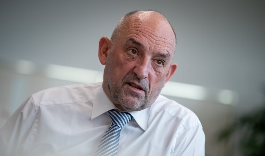 Chefen for den tyske arbejdsmarkedsforvaltning, Detlef Scheele, er optimist.    (Daniel Karmann/dpa.)