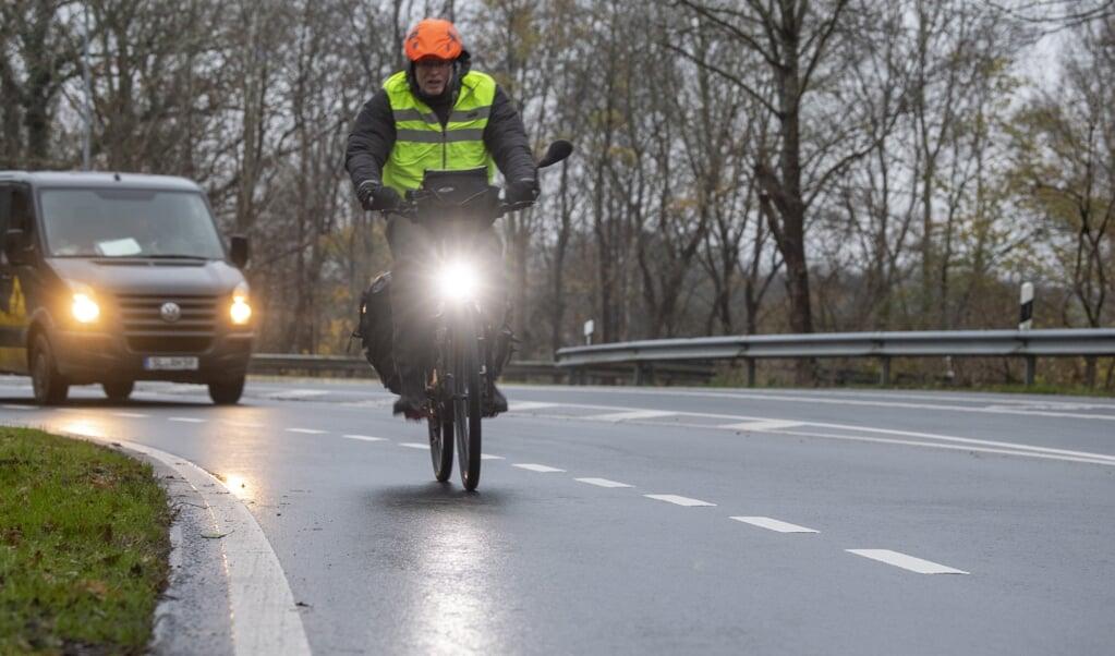 Radfahren über Land soll sicherer werden.  ( Kira Kutscher)