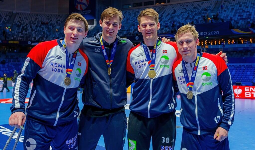 Die vier Norweger der SG Flensburg-Handewitt sind erneut nominiert worden.  ( Sascha Klahn)