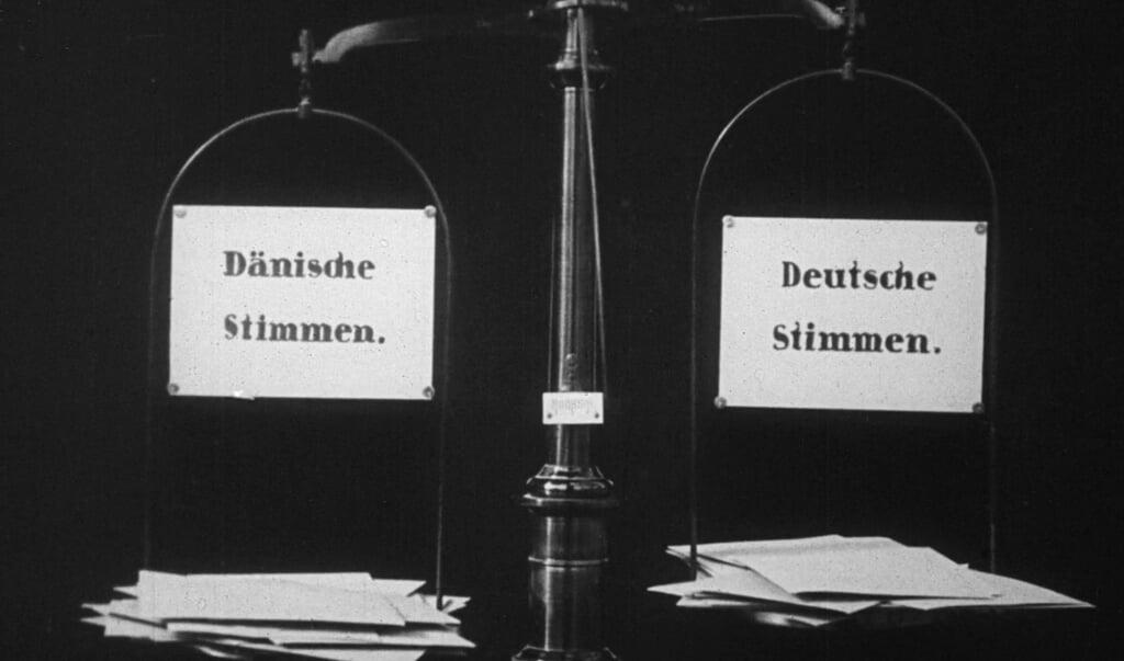 På sitet »Danmark på film« ligger blandt andet film om afstemningen i Slesvig i 1920.  (Dansk Filminstitut)
