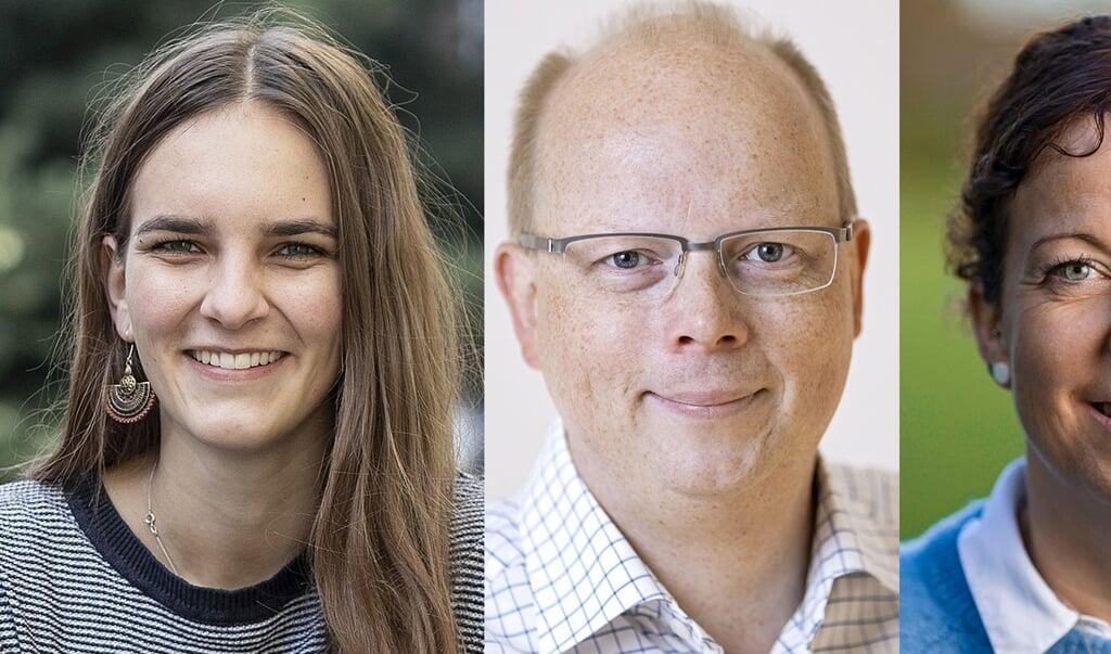 Maylis Rossberg (tv), Stefan Seidler og Sybilla Nitsch ønsker alle at være SSWs spidskandidat til forbundsdagsvalget den 25. september, men hvor står de politisk, og hvad adskiller dem fra hinanden? Det får man muligvis svar på torsdag aften.   (Sven Geissler)