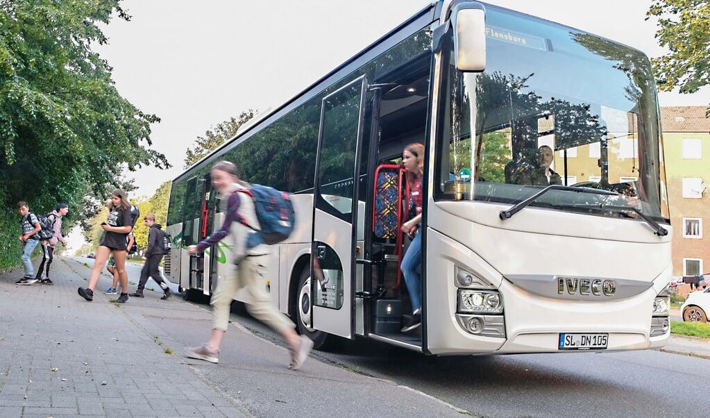 Auch der Dänische Schulverein - Dansk Skoleforening - erhält für die Beförderung seiner Schulkinder ab Jahresbeginn 2021 eine um rund 50 Prozent erhöhte Pauschale vom Land. Archivfoto:  (Sven Geißler)