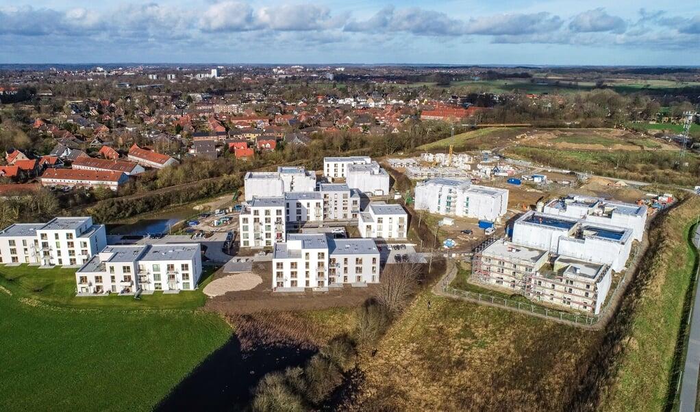 <p>Der Wohnpark Tarup ist das derzeit gr&ouml;&szlig;te Projekt des SBV. Bis Winter 2021 sollen insgesamt 287 Wohnungen entstehen. Archivfoto: Sven Gei&szlig;ler</p>  (Sven Geissler)