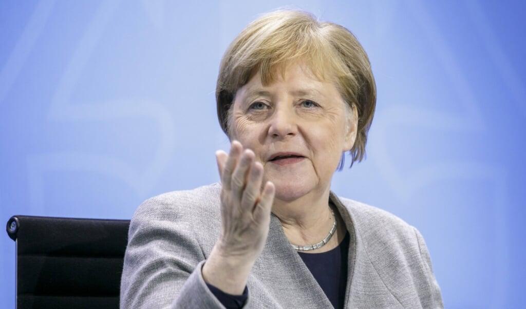 Angela Merkel mødes i dag med de tyske delstaters regeringschefer til en videokonference for at drøfte nye forholdsregler mod smittespredning.  Thomas Imo/photothek. via www.imago-images.de/Ritzau Scanpix.  (Ritzau Scanpix)