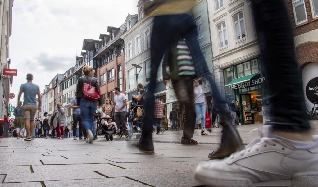 Der er mange lejligheder i Flensborgs gågade, der står tomme.   ( Tim Riediger)