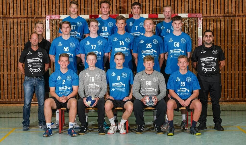<p>HKUF h&aring;ndbolddrenge spiller om at v&aelig;re med i U-Bundesliga.  Sven Gei&szlig;ler</p>  (Sven Gei&szlig;ler)