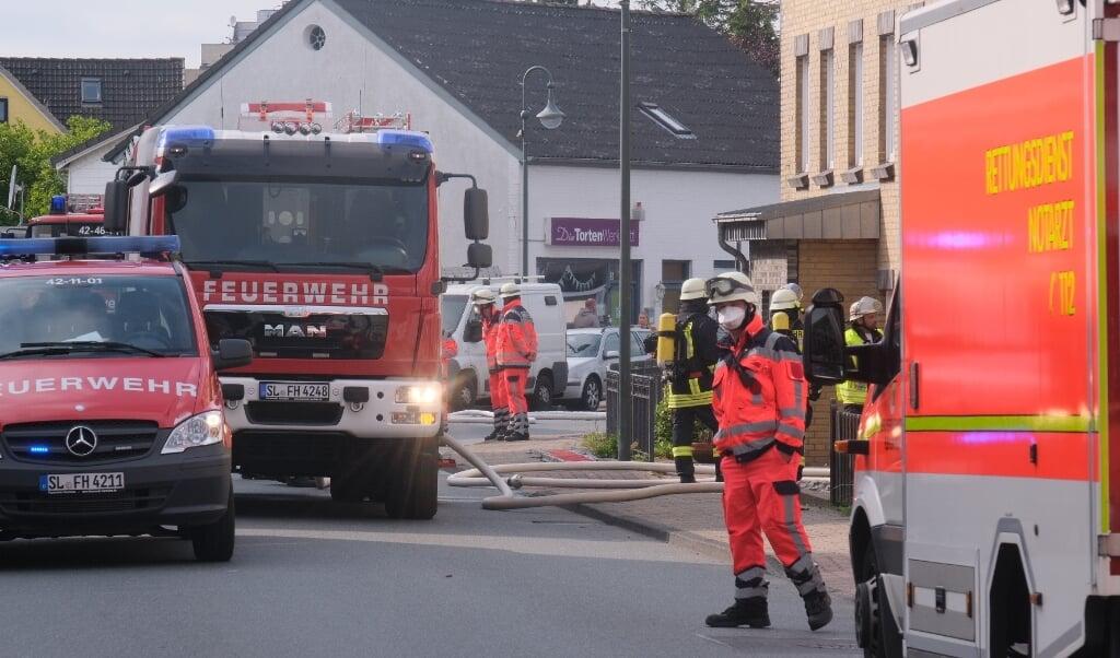 Det lykkedes takket være en hurtig indsats at forhindre branden i Harreslev i at udvikle sig.  ( Sebastian Iwersen)