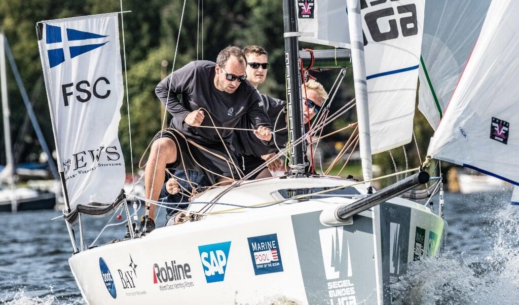 Die FSC-Crew hat an den letzten Spieltagen der Segelbundesliga noch einiges vor.  Lars Wehrmann/DSBL  (Lars Wehrmann)