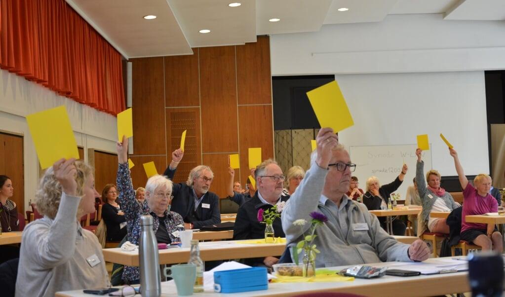 <p>Mit gro&szlig;er Mehrheit beschloss die Kirchenkreis-Synode eine neue Leitungsstruktur.&nbsp;</p>  ( Anja Pfaff)