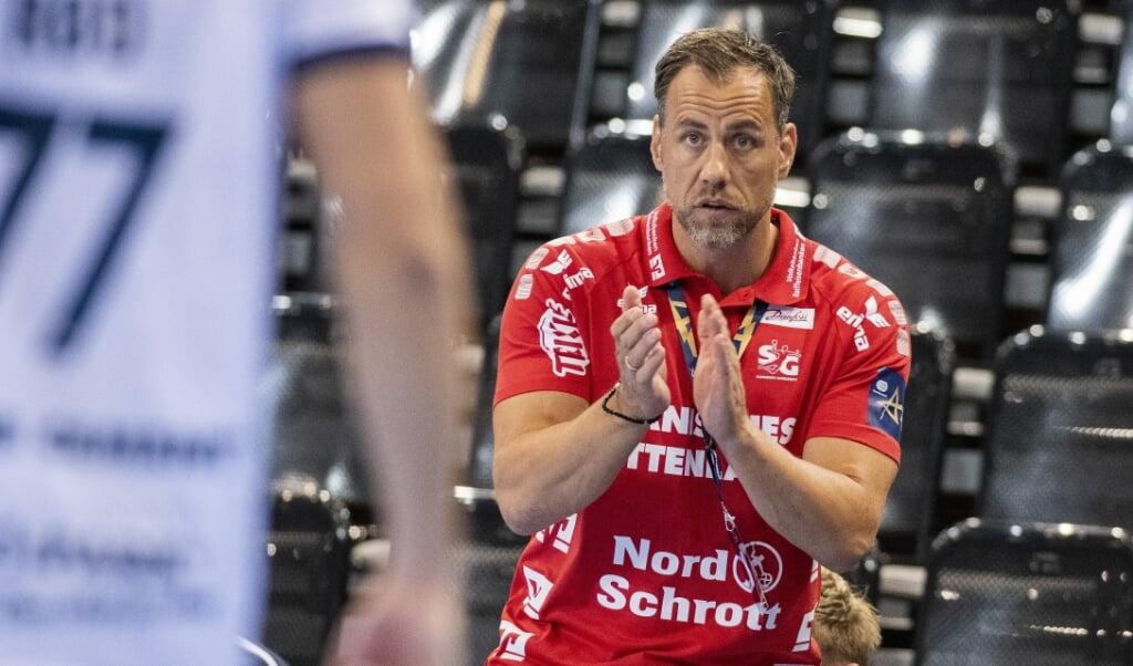 SG-Trainer Maik Machulla geht auch gegen Aufsteiger HSC 2000 Coburg voll fokussiert in die Partie.  Tim Riediger  (Tim Riediger)