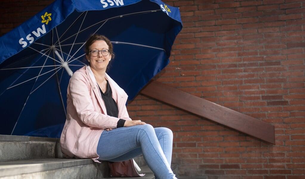 Sibylla Nitsch, SSW-amtsformand i Nordfrisland og nyvalgt næstformand i SSW, nu mulig kandidat til forbundsdagsvalget for SSW.   ( Kira Kutscher)
