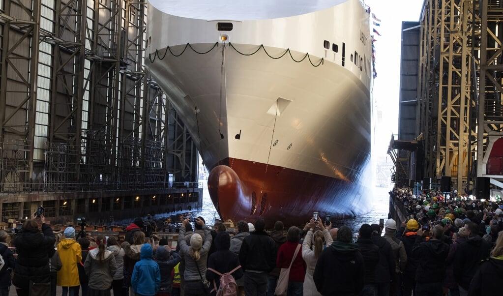 <p>Da &raquo;Liekut&laquo; i oktober i fjor blev s&oslash;sat, var det en gl&aelig;dens dag for det kriseramte skibsv&aelig;rft FSG og dets ansatte. Arkivfoto: Tim Riediger</p>  (Tim Riediger / nordpool)
