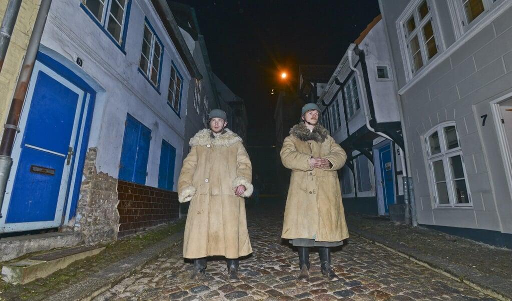<p>Fra optagelserne i Oluf-Samson-Gang i Flensborg i marts 2018.</p>  ( Hans Christian Davidsen)