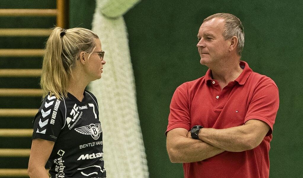 Melanie Steffensen und Olaf Rogge bilden auch in der nächsten Saison das Trainerduo beim TSV Nord Harrislee.  ( Lars Salomonsen)