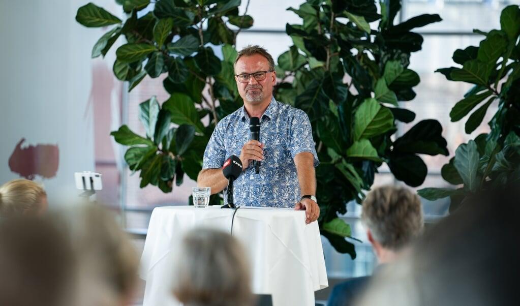 Gordon Ørskov Madsen (på billedet) er onsdag valgt som ny formand for Danmarks Lærerforening. Han afløser Anders Bondo Christensen, der er stoppet efter 18 år på posten.  (Emil Helms/Ritzau Scanpix)