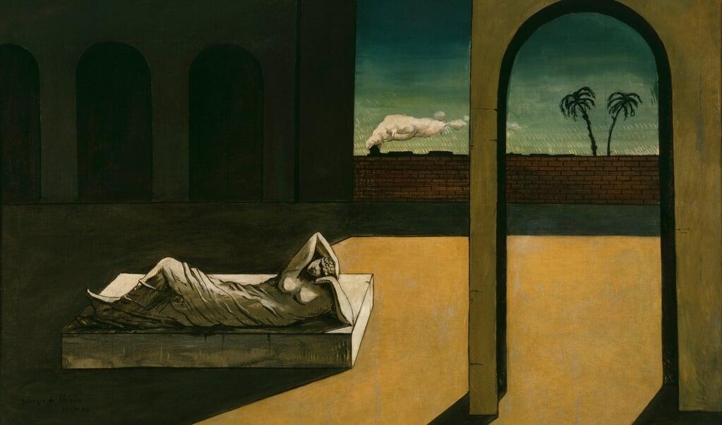 »Sandsigerskens løn« af Giorgio de Chirico, olie på lærred, 1913.  (VG Bild-Kunst, Bonn 2019 /Artists Rights Society (ARS), New York / SIAE, Rome © Philadelphia Museum of Art, Louise an)
