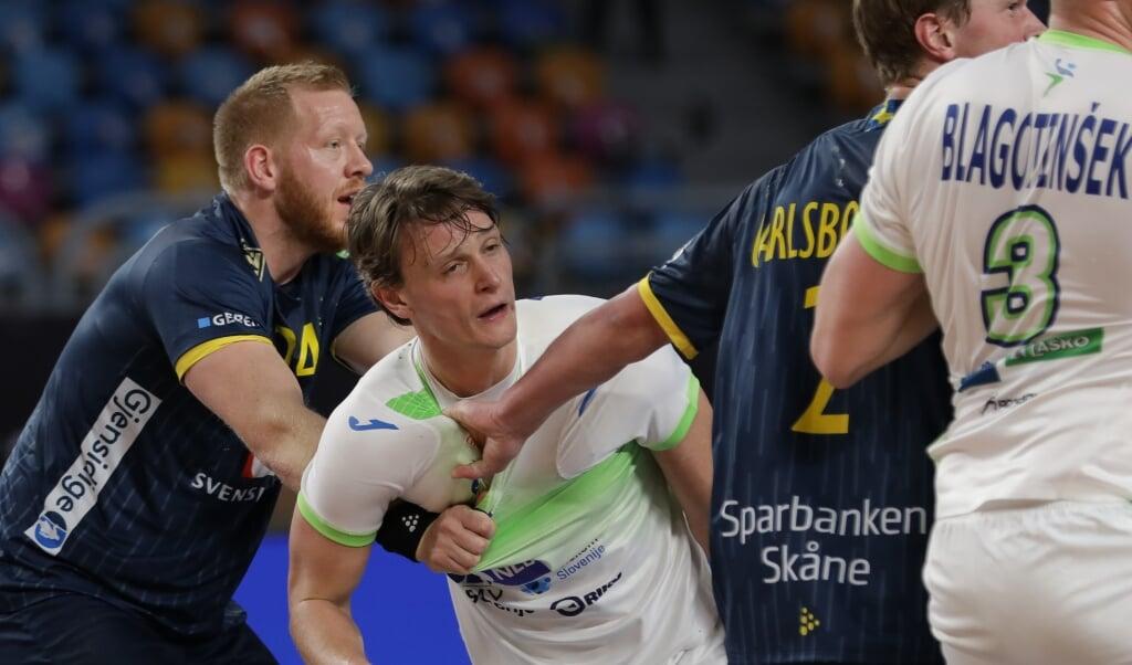 Jim Gottfridsson gehört auch bei Schweden zu den Dauerbrennern und hat gegen Slowenien fast 50 Minuten auf dem Feld gestanden.  ( IHF)