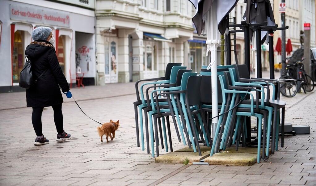 Lock-down stemning i Flensborgs gågade den 22.01.2021.  MARTIN ZIEMER  (Martin Ziemer)