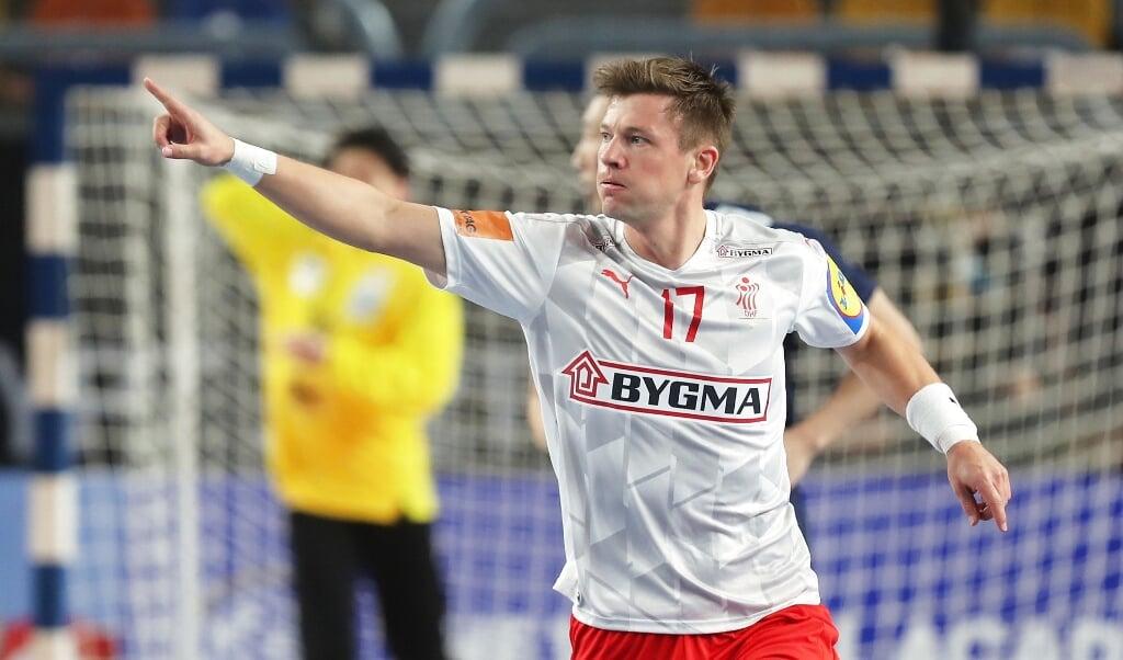 Det holdt hårdt for Danmark og Lasse Svan mod Japan.  ( Ritzau Scanpix/REUTERS/Mohamed Abd El Ghany)