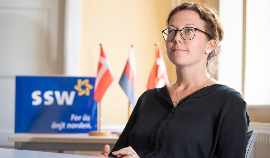 Sybilla Nitsch er en af SSWs tre nominerede kandidater til Forbundsdagen.  ( SSW Sporskifte)