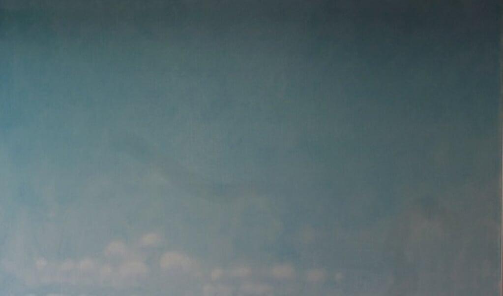 Billedet »Faskine ved Rømø«, der i virkeligheden måler 90 x 105 centimeter, er ganske typisk for kunstneren Dan Thuesen.  (Galleri Tønder)