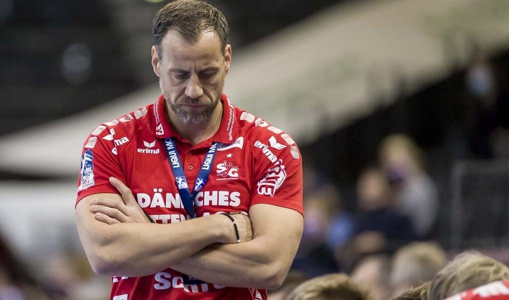 Für Trainer Maik Machulla und die SG Flensburg-Handewitt läuft es derzeit nicht wie geplant.  ( Lars Salomonsen)