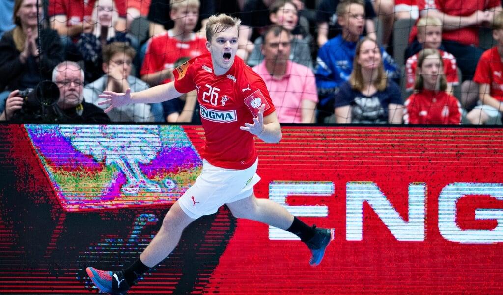 Johan Hansen skal løfte arven efter Lasse Svan i den kommende sæson på højre fløj i SG Flensburg-Handewitt.  (Arkivfoto)