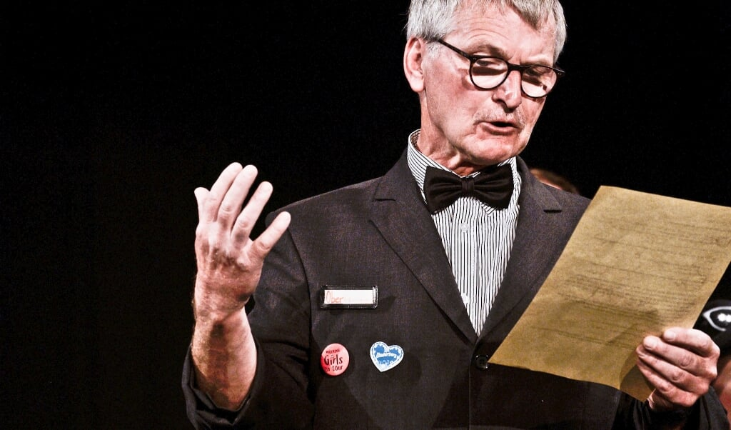 Der Schauspieler André Eckner im Hamlet-Projekt der Theaterschule Flensburg.   ( Tilman Köneke)